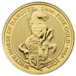 1/4 oz Queen's Beasts White Horse of Hanover Gold Coin (2020)