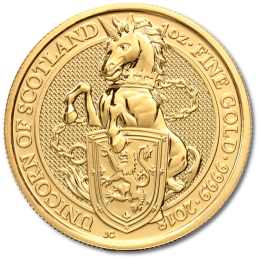 1 oz Queen's Beasts Unicorn Gold Coin (2018)